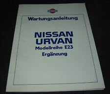 Werkstatthandbuch Nissan Urvan Typ E23 Wartungsanleitung Stand 1983