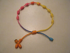 Knotted Rosary Bracelet - Turquoise/Pink/Yellow/Orange
