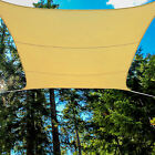 Sand Beige Waterproof Polyester Sun Shade Sail Canopy 12' Ft Square UV Patio Top