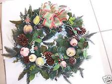 GORGEOUS PINE AND GLAZED FRUIT CHRISTMAS WREATH