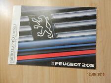 notice d'utilisation Peugeot 205 particularités diesel juin 1987 GTI