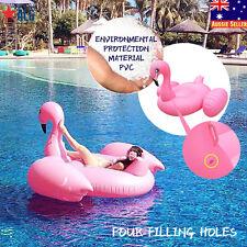 Inflatable Pink Flamingo Swim Ring Raft Giant Beach Swimming Pool Water Float