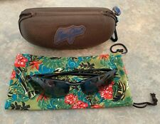 Maui Jim 405-02 Makaha Wrap Sunglasses Polarised Fishing - Gloss Black Gray