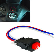 10PCS Plastic Motorcycle Light Switch Button Emergency Lamp Flasher Switch Sets