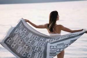 Sunglasses Beach Design Towel Gray