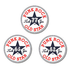 PUNKROCK OLDSTAR Punk Button Personalized Mit WUNSCHJAHR PIN Punkrock Allstar