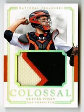 2017 Buster Posey National Treasures Jumbo Prime GU Patch /5 Giants Game used NT