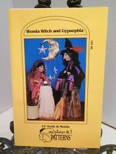 RARE Wenda Witch and Gypsy Fortune Teller Dolls Sewing Pattern Moon Stars Mobile