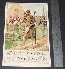 Chromo chocolat de royat 1910-1914 popular song rhyme the wandering jew 3