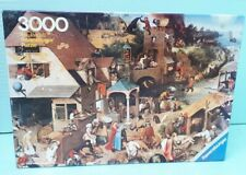 Vintage 3000 Ravensburger 1977 Brueghel DUTCH PROVERBS Sealed Pieces