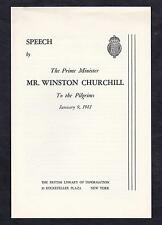 Winston S. Churchill - Speech by the Prime Minister, January 9, 1941