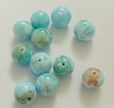 Lot of 85 CTS Natural Larimar beads Gemstone (11 unids, 17grams)
