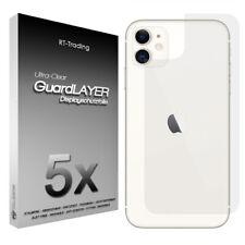 5x Schutzfolie für Rückseite Folie PET Back Film Klar für Apple iPhone 11