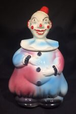 Vintage American Bisque Clown Cookie Jar - USA