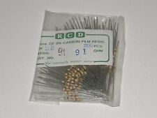 Lot of 200 pcs RCD 91 Ohms type CF 1/4W 5% Carbon Film Resistor