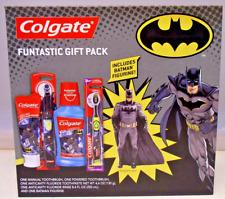 Batman Colgate Toothbrush Set Toothpaste Funtastic Gift Pack Figurine Included