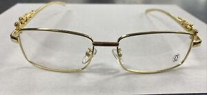 Vintage Gold Frame Glasses Cartier Panthere