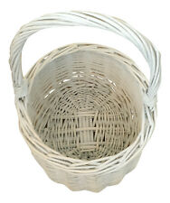 Mini Washed Wicker Hollander Shopping Basket Wedding Easter Petals Eggs Crafts