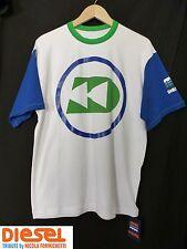 NWT Diesel Tribute Aquahollic Men's Sporty Diver White T-Shirt Sz L Rubber Print