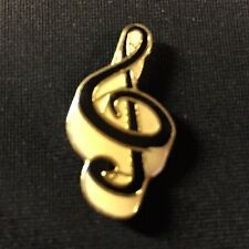 "Vintage Treble Clef Lapel / Hat Pin / 1 1/16"" x 9/16"" / Music / New Old Stock"