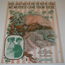1916 Sheet Music Ireland Must be Heaven My Mother Came From There Art Rosebud