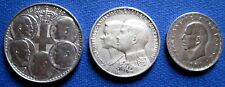 1960, 1963, 1964  SET GREECE GREEK COIN  20,  30 DRACHMA SILVER LOT OF 3 COINS