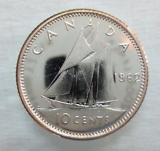1962 CANADA 10 CENTS PROOF-LIKE SILVER COIN