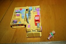 RARE  1996 POLLY POCKET POLLY'S SCHOOL BUS-Used-1 Doll