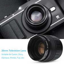Television CCTV Fixed Focal Lens 35mm F/1.7 for C Mount Canon Sony Camera TP