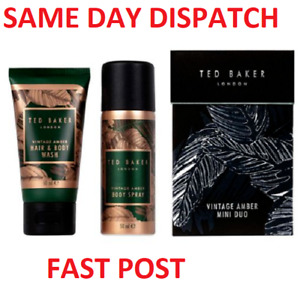 Ted Baker Vintage Amber Mini Duo Mens Gift Set Travel Size - FAST DISPATCH