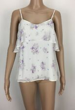 Forever New Size 8, 10 Women's Cami Top Blouses Spaghetti Strap White Floral
