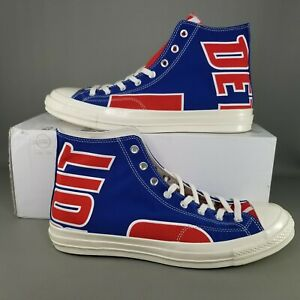 Converse x Detroit Pistons Chuck 70 Hi Basketball Shoes Mens Size 13 #198 / 250
