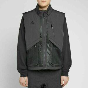 Nike NikeLab ACG Vest Full Zip Black BQ3619-010 Sleeveless Streetwear New Sz XL