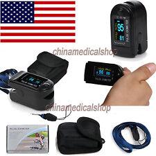USA Finger Tip Pulse Oximeter Blood Oxygen SpO2 PR Monitor OLED CMS50D Black FDA