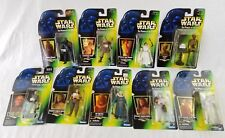 lot of 9 star wars power of the force figures 1997 NEW kenner ev-9d9 Darth Leia