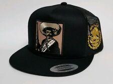 Emiliano Zapata Sinaloa Hat Black Mesh Trucker Snap Back Adjust New 2Logos