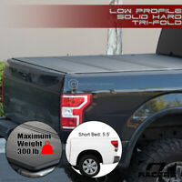 For 2014-2021 Toyota Tundra 5.5' Bed Low Profile Hard Tri Fold ABS Tonneau Cover