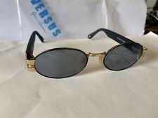 Versace Sunglasses Occhiali Da Sole ovali, Vintage 90s NOS Nuovi