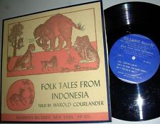 "HAROLD COURLANDER: FOLK TALES from INDONESIA 10"" LP"