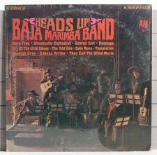 BAJA MARIMBA BAND HEADS UP 1967 Stereo Vinyl LP Wechter Decaro Curry Tjader Herb