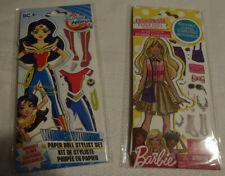 Reusable Clings Paper Dolls Stylist Set Nip Barbie Wonder Woman