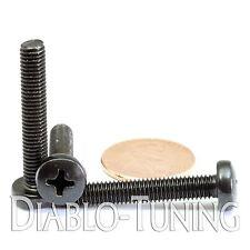 M5 x 30mm - Qty 10 - Phillips Pan Head Machine Screws - DIN 7985 A - Black Steel