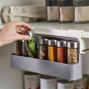Under-Shelf Spice Bottle Storage Rack Spice Organizer Kitchen Supplies