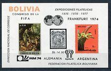 Bolivien Block 44 postfrisch / Fußball - Orchideen .......................1/1378