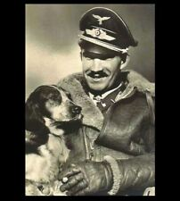 German Fighter Ace Adolf Galland PHOTO Youngest General, Luftwaffe Pilot and Dog