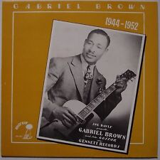 GABRIEL BROWN: Joe Davis Presents BLUES GUITAR vinyl lp UK PRESS scarce
