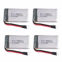 3.7V Lipo Battery 4-Port Charger and 4pcs 650mAh 1s Lipo Battery for RC Drone US