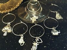 Wine Glass Charm - Set of 6 - Alice In Wonderland Theme