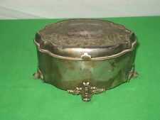 Vintage Brass Trinket Box Hinged Top Victor Silver Company