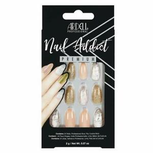 ARDELL Nail Addict Premium Artificial Set – PINK MARBLE & GOLD